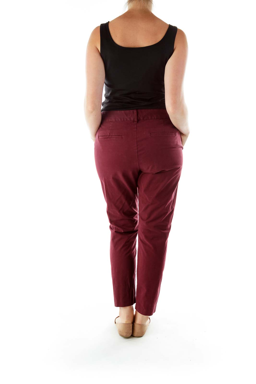 Merlot Pocketed Skinny Pants