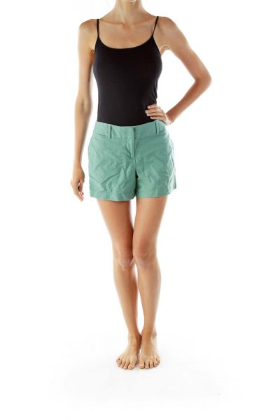 Green High-Waisted Shorts