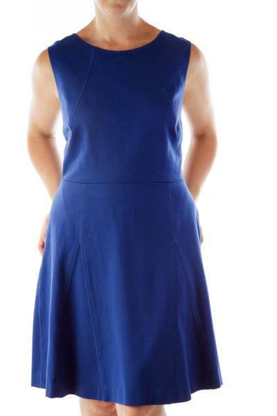 Royal Blue Open-Back Dress