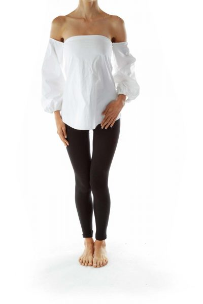 White Off-Shoulder Blouse