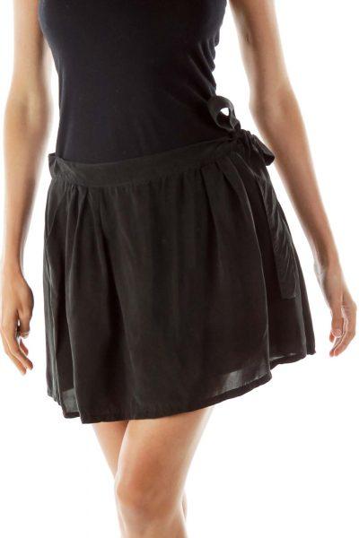 Black Mini Skirt with Pockets