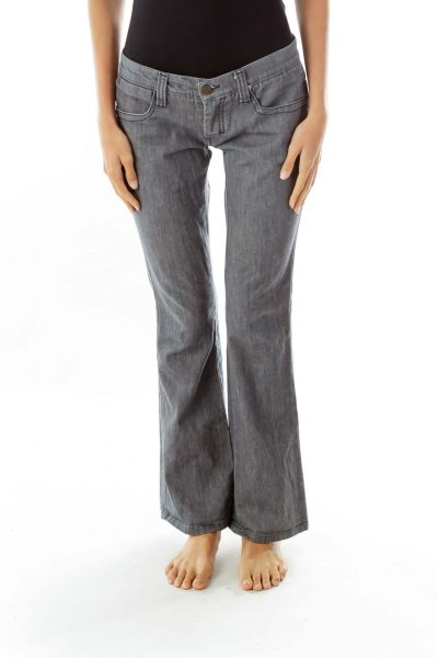 Blue Gray Flared Jeans