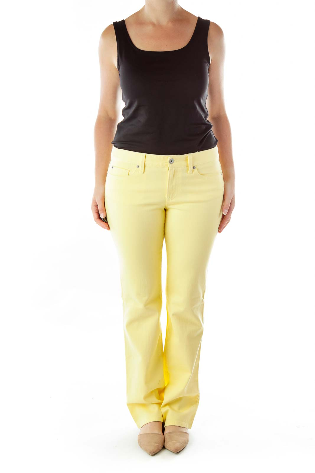 Yellow Straight-Leg Jeans