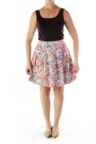Multicolor Floral Skirt