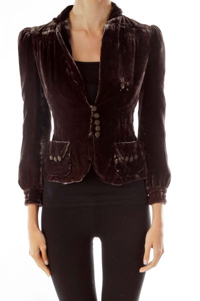 Brown Velvet Blazer