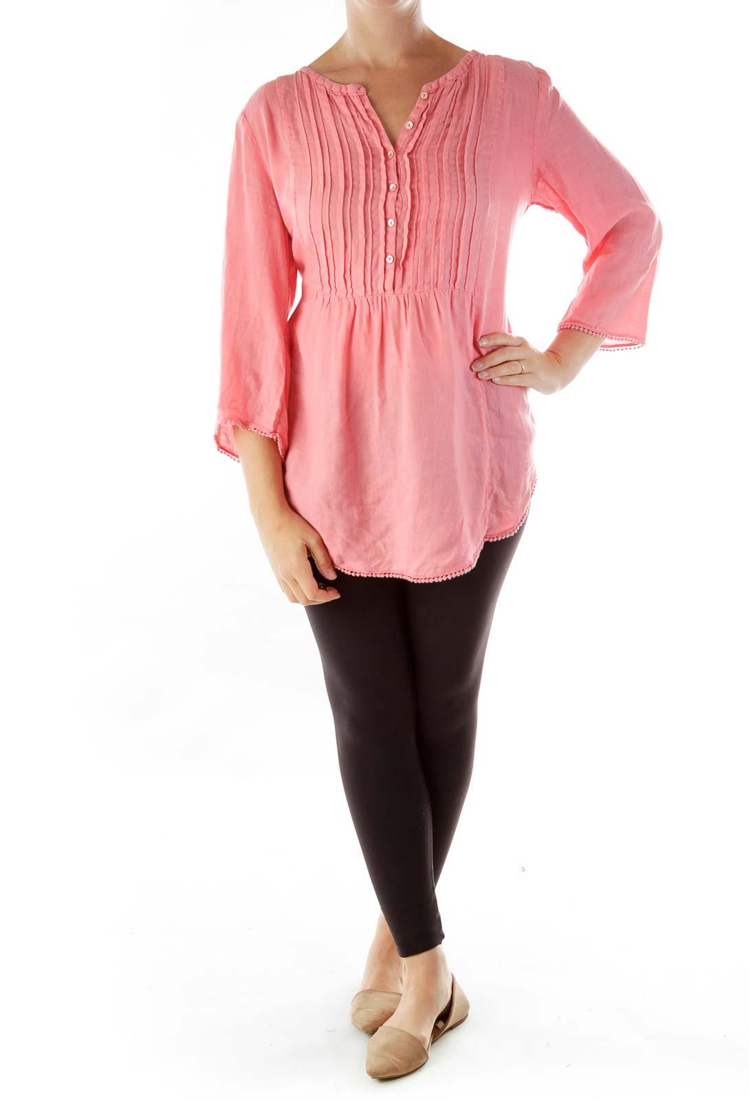 Pink Linen Tunic