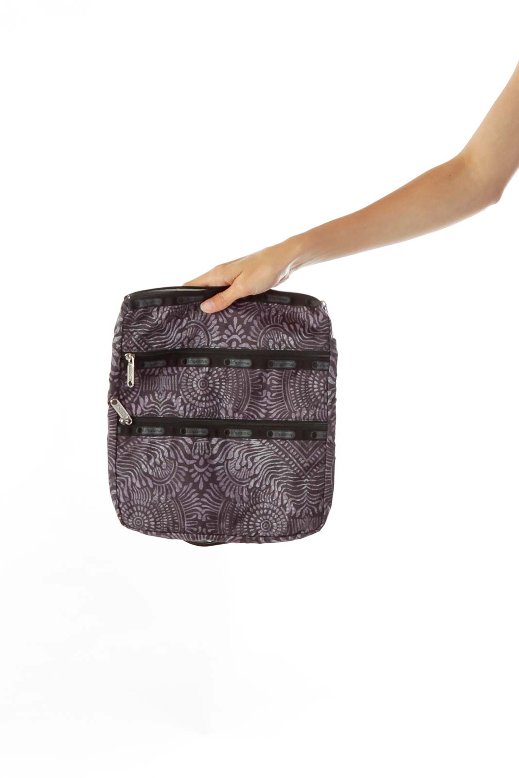 Purple Print Satchel