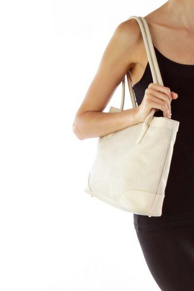 Cream Bag w/ Small case