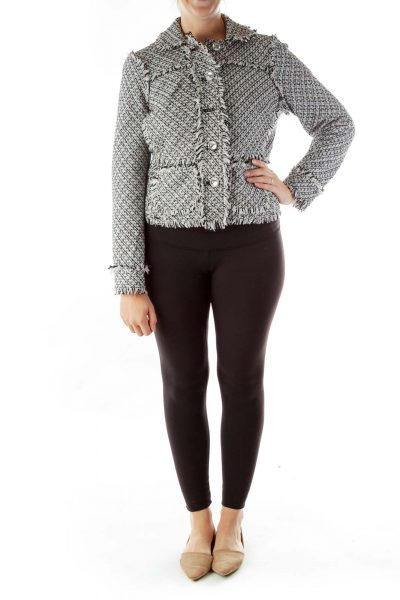 Black White Tweed Jacket