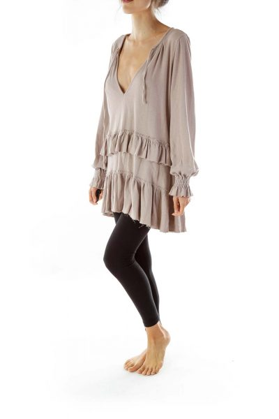 Purple Ruffled Tunic