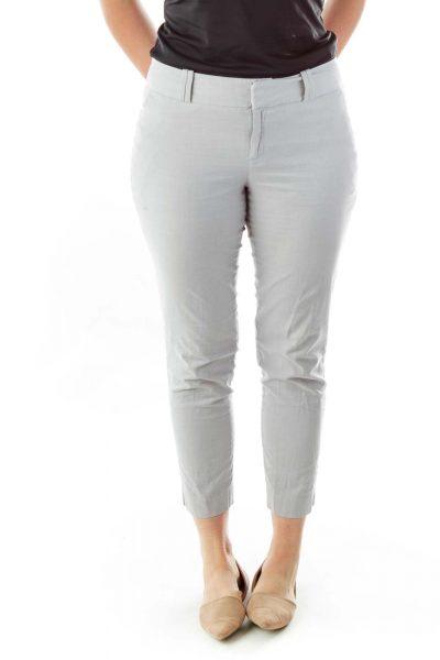Gray Cotton Slacks