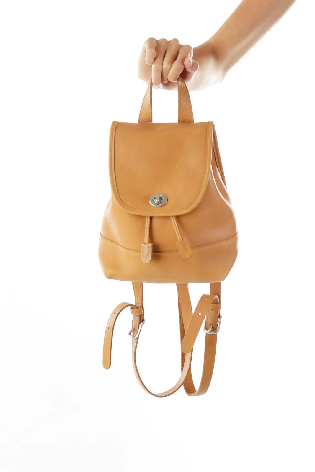 Camel Brown Small Backpack