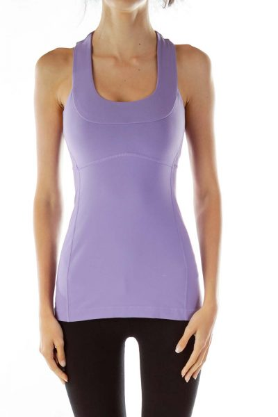 Light Purple Racerback Yoga Top