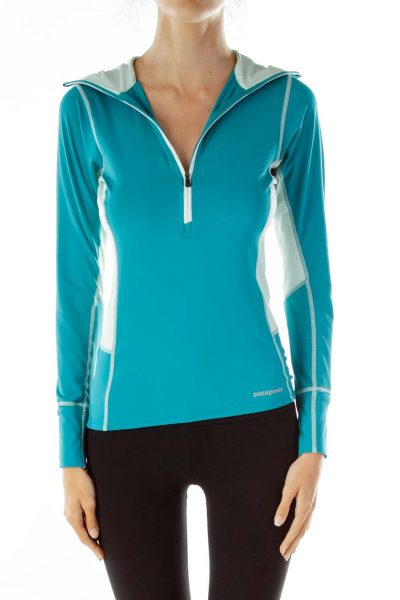 Green Hooded Sports Top