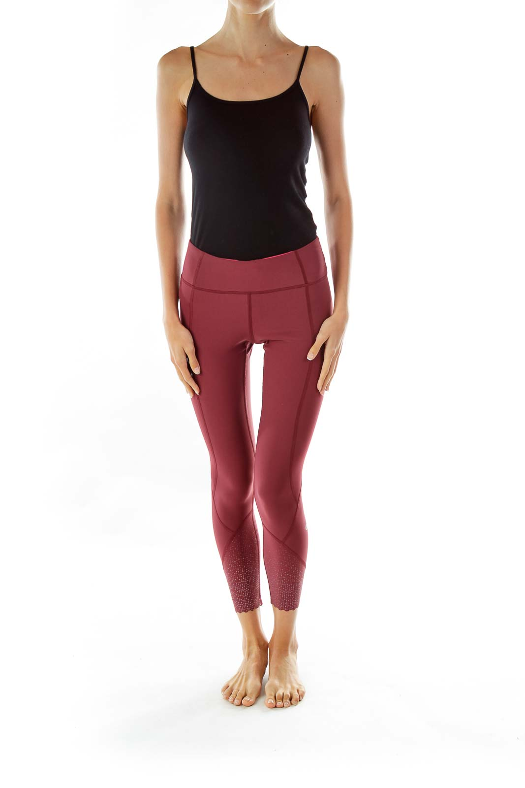 Maroon Cropped Leggings