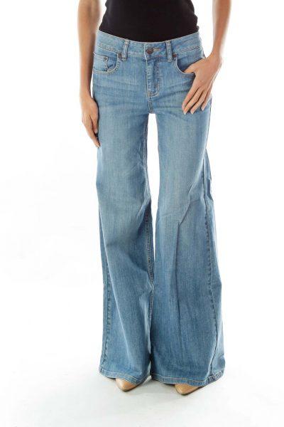 Blue Vintage Bootcut Jeans