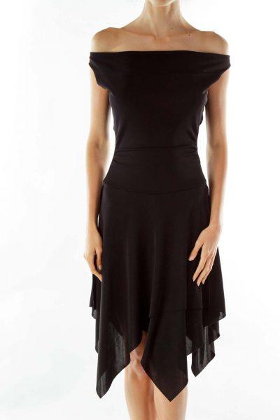 Black Open-Back Cocktail Dress