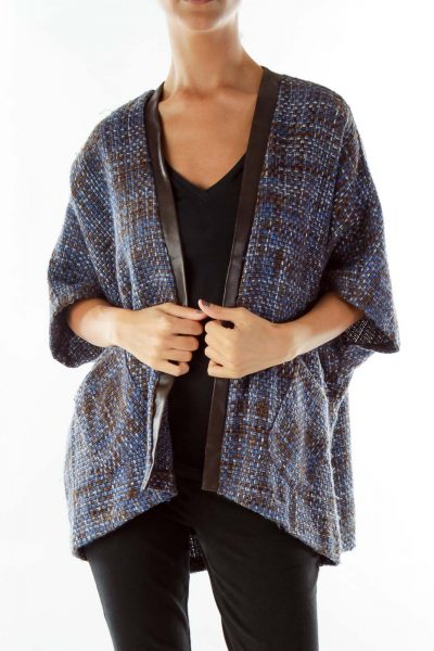 Blue Black Tweed Jacket