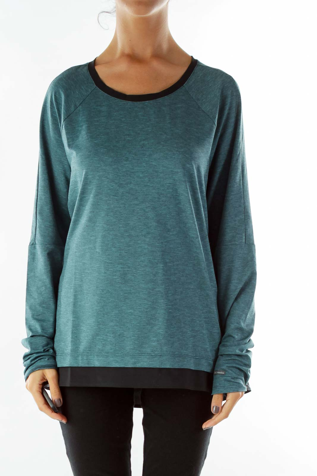Blue Mottled Sports Top