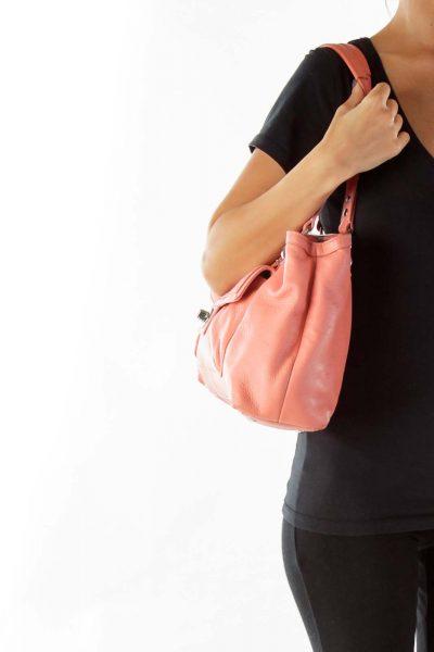 Coral Pocketed Shoulder Bag