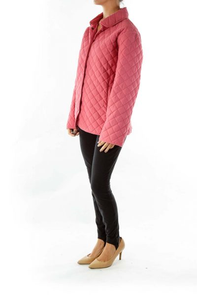 Pink Quilted Coat