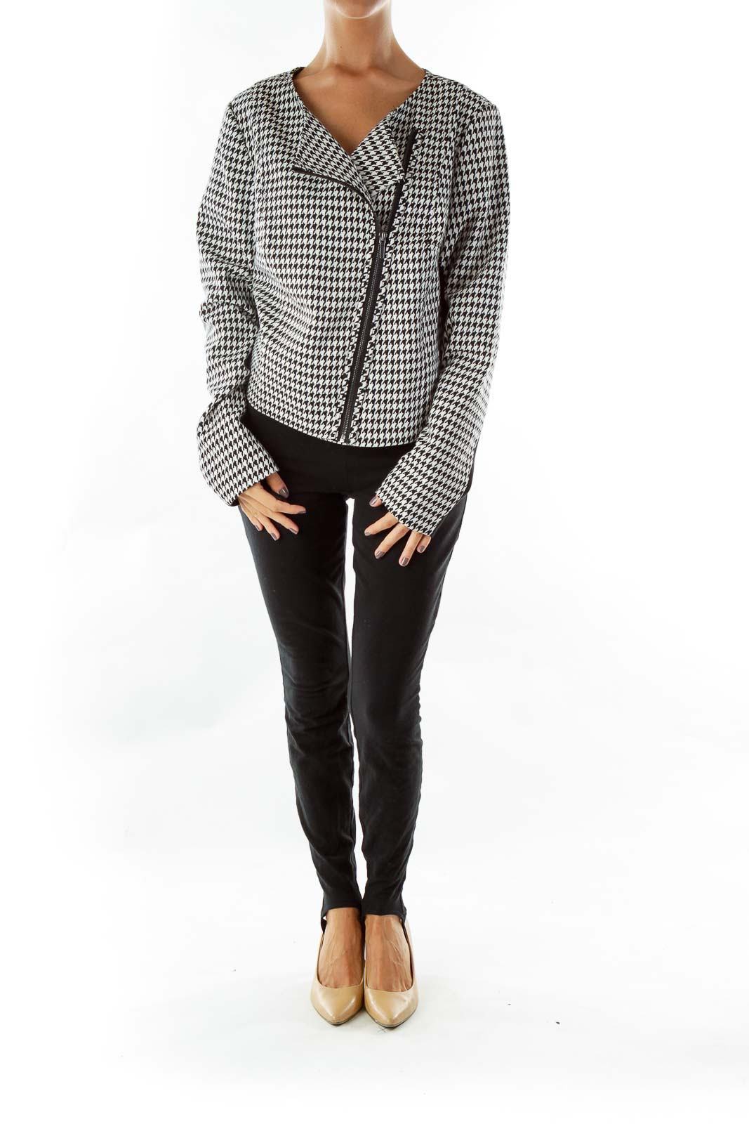 Black White Houndstooth Jacket