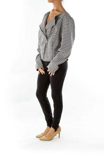 Black White Houndstooth Jacket