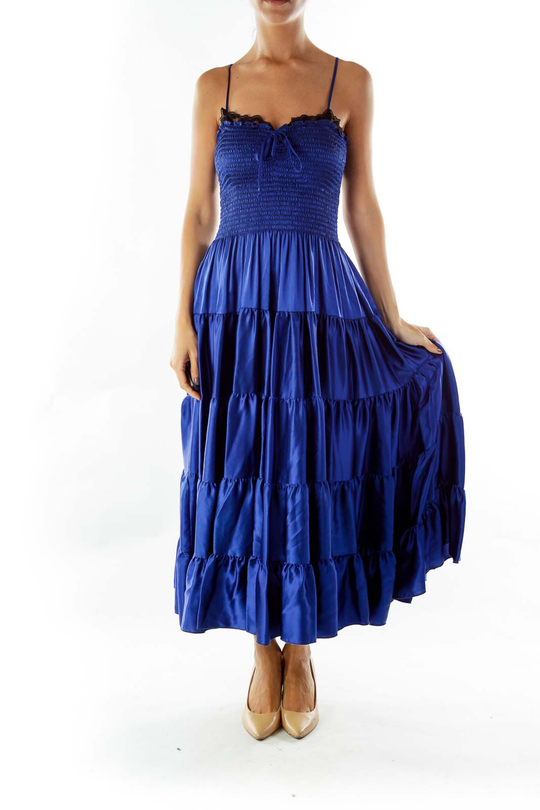 Royal Blue Silk Dress