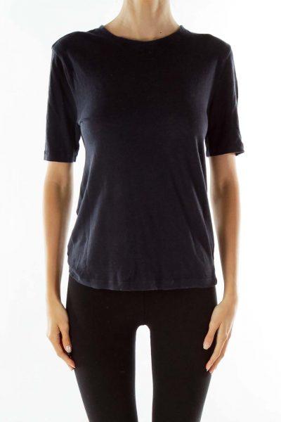 Navy Round Neck T-shirt