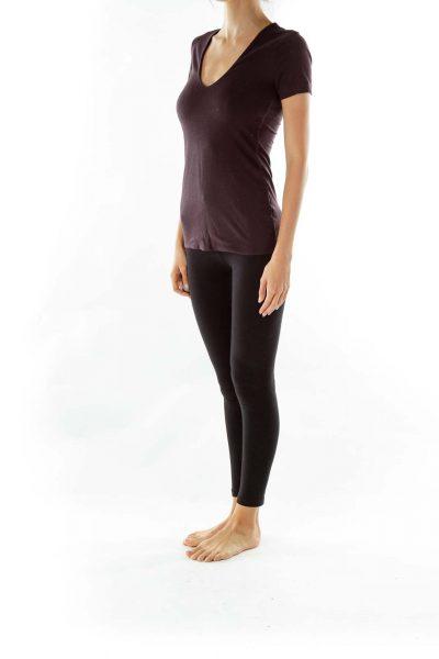 Purple V-Neck Top