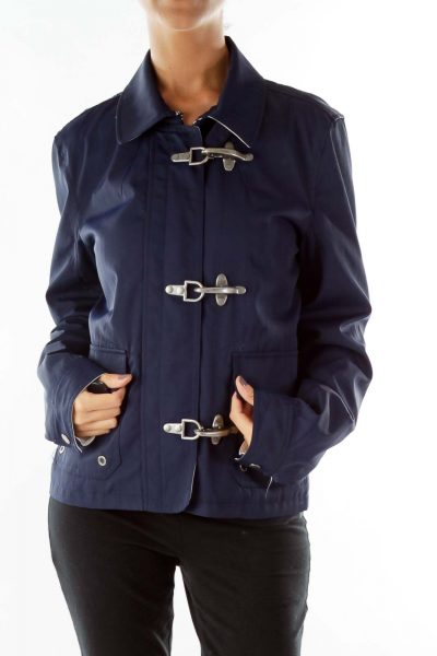 Navy Parka w/ Silver Attaches