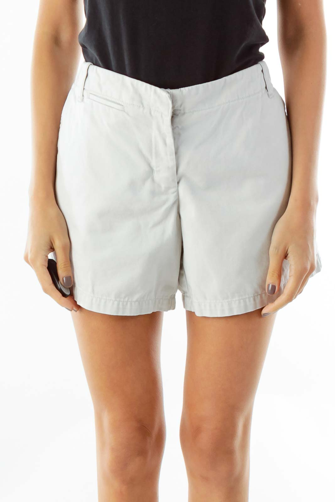 Gray Pocketed Shorts