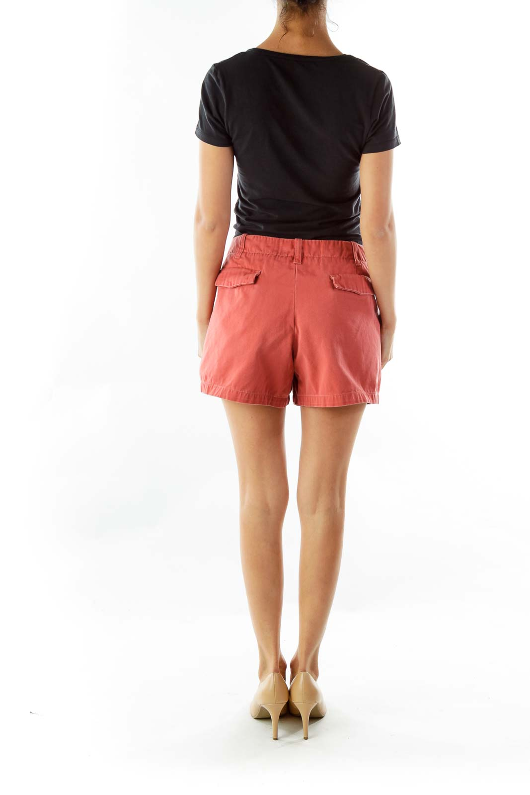 Red Pocketed Shorts