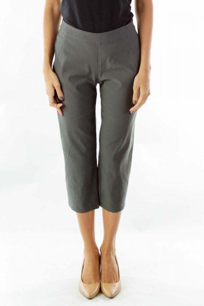 Green Petite Slim Pants