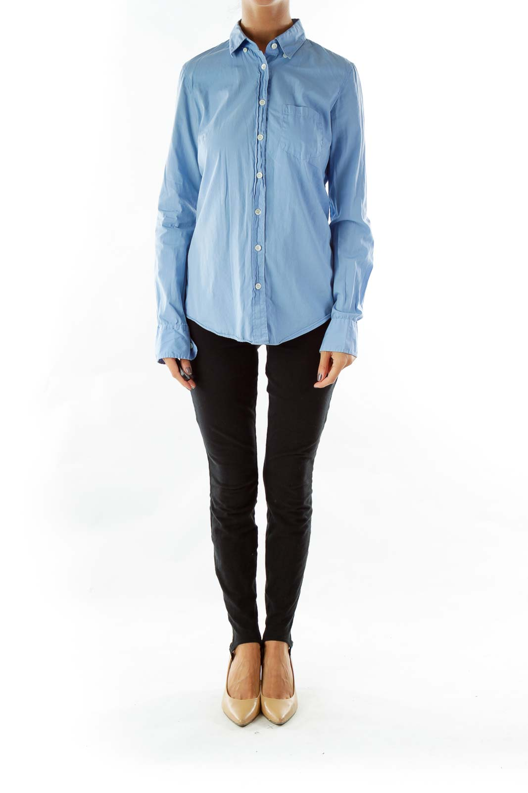 Blue Pocketed Shirt