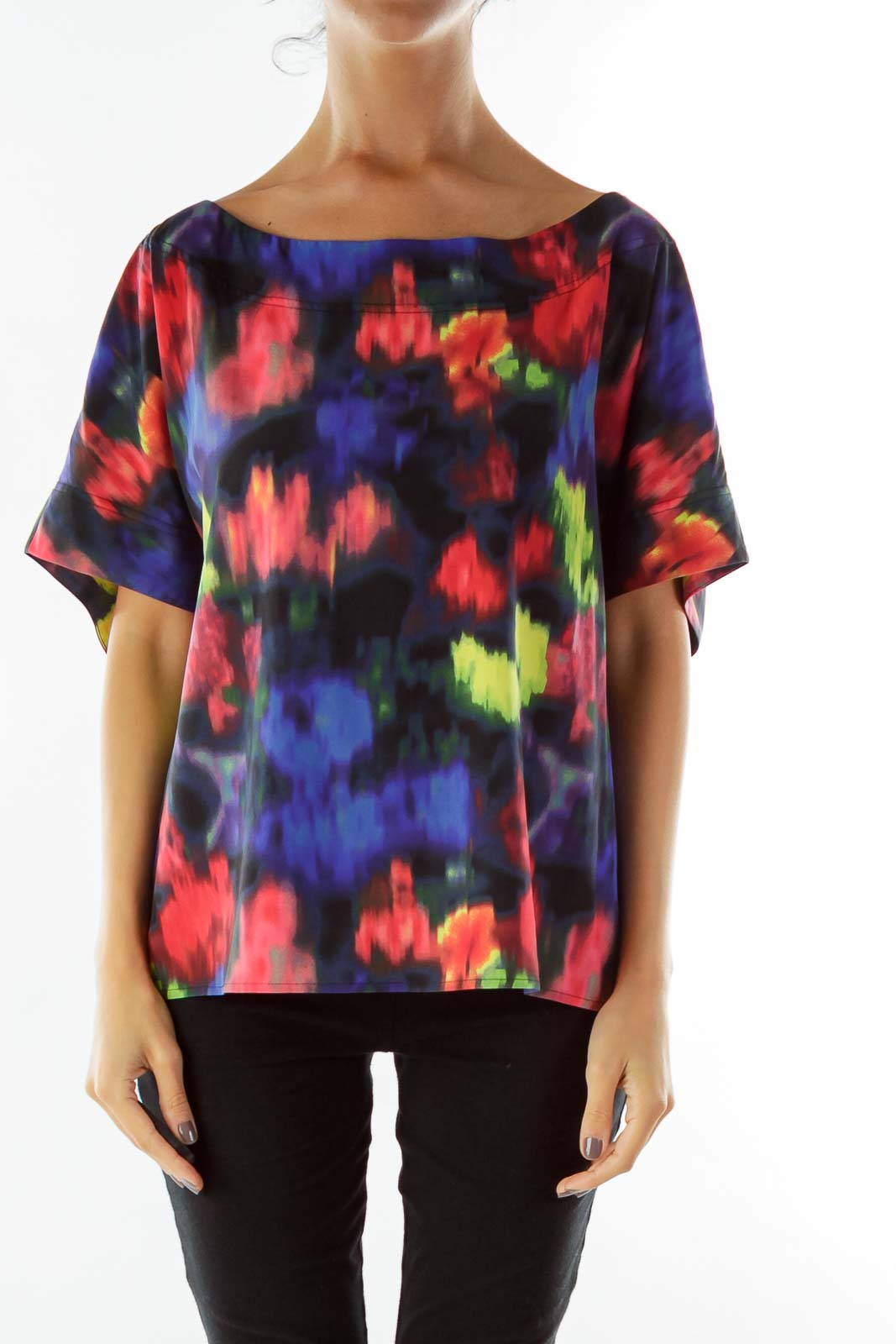 Multicolor Silk Blouse