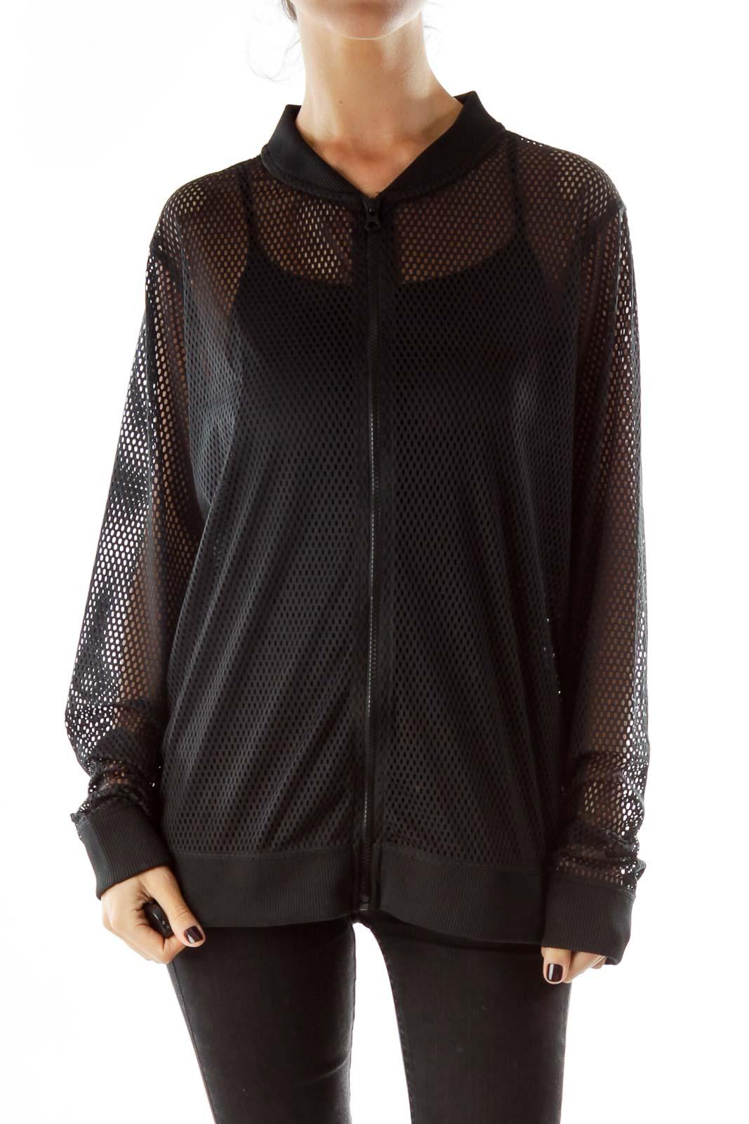 Black Mesh Sports Jacket
