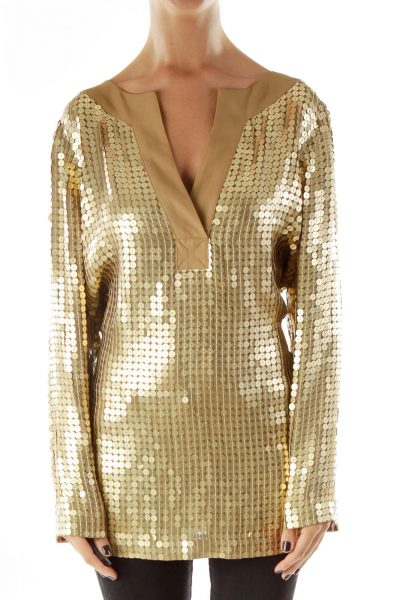 Gold Sequined Tunic