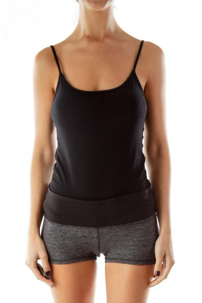 Black Gray Sports Shorts
