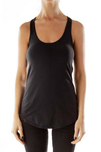 Black Yoga Sports Top