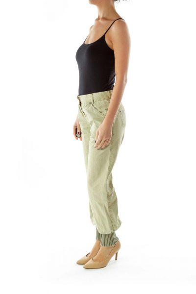 Light Green Tapered Cargo Pants