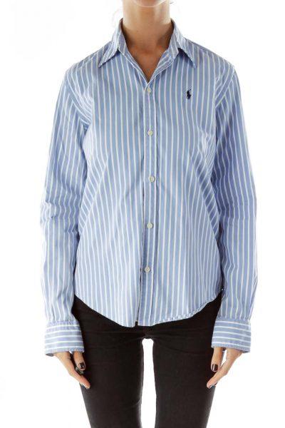 Baby Blue Pinstripe Shirt