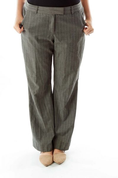 Gray Pinstripe Pants