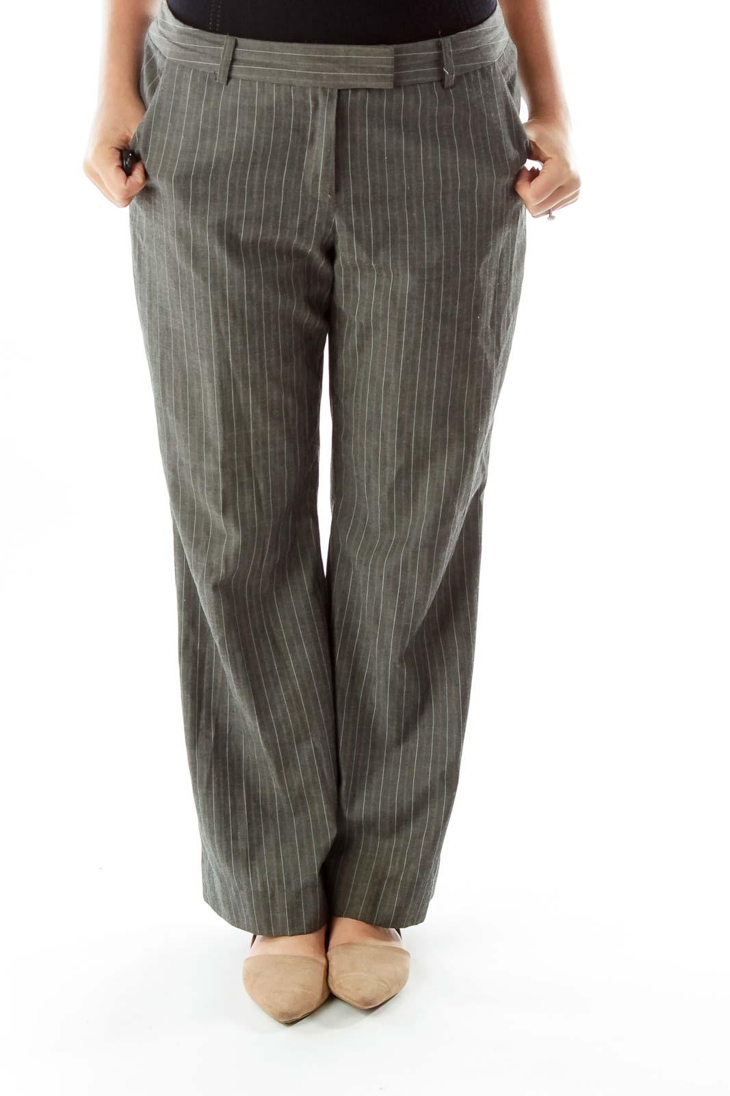 Gray Pinstripe Pants