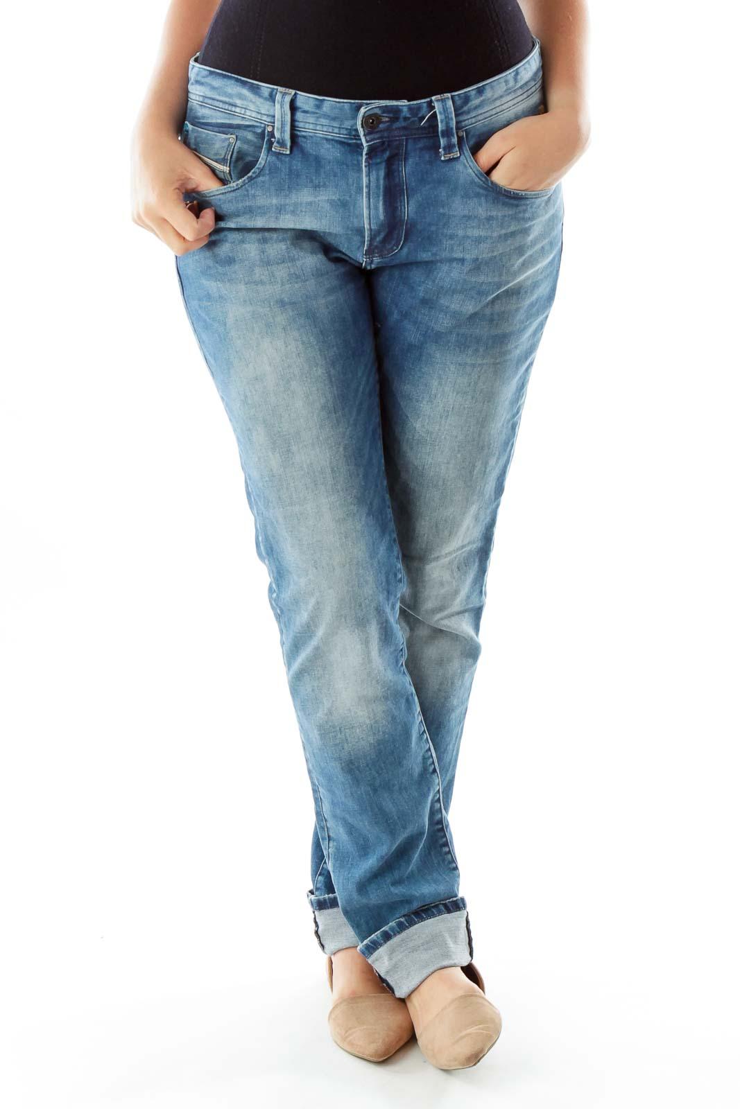 Navy French Boyfriend Jeans