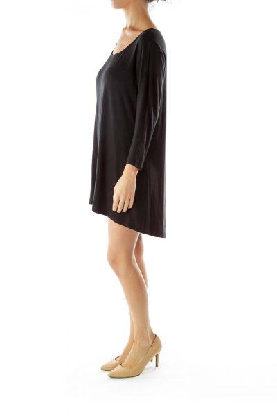 Black Loose Soft Long-Sleeve T-Shirt