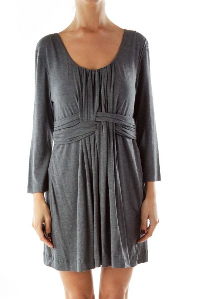 Gray Braided Loose Dress