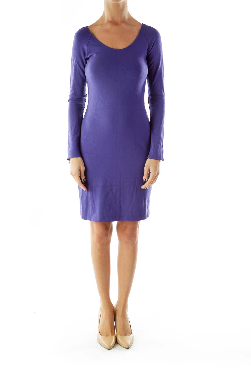 Purple Zippered Day Dress