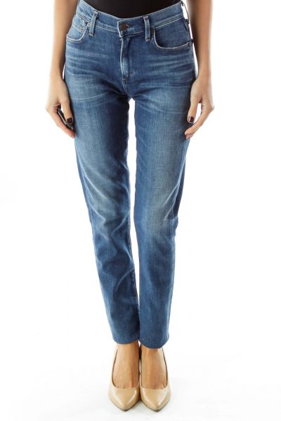 Navy Pocketed Jeans