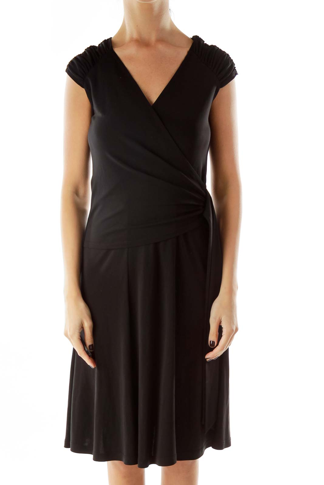 Black Sleeveless Cocktail Dress